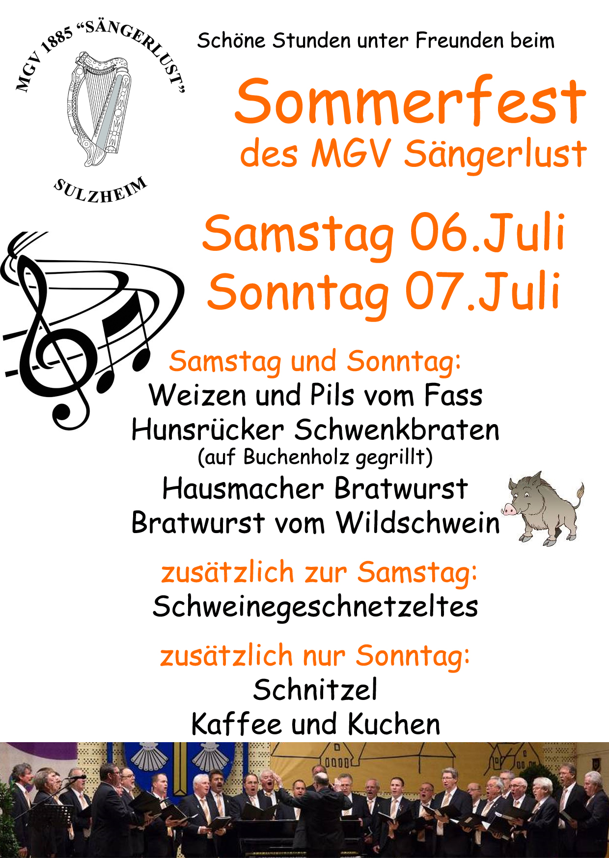 Flyer Sommerfest MGVVorderseite2019